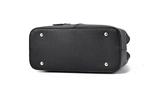 Frauen Handtaschen PU-Leder Messenger Bag Handtaschen Elegante Einfache Mode Handtasche Schultertasche Damen Handtaschen Schwarze Tasche Black