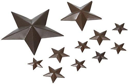 Darice gfc-333asst Sterne 2D Mini Rustikal Dose Pkg 14sortiert
