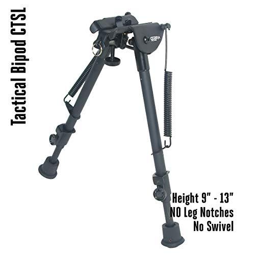 COBRA Tactical Solutions CTSL | Taktisches faltbares Zweibein/Bipod höhenverstellbar | 23 - 33 cm | Für Airsoft Jagd Varmint Luftgewehr -