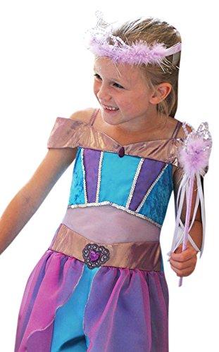 Zauberclown - Mädchen Karnevals Komplett Kostüm Kleid arabische Prinzessin , Mehrfarbig, Größe 116-128, 6-8 Jahre