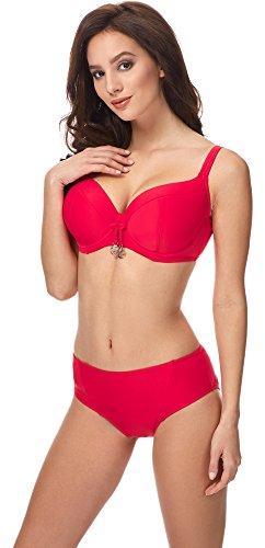 Merry Style Bikini Top per Donna CD Rosso