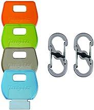 Nite Ize Unisex Identikey Covers Plus S-Biner Combo Pack, Multi-Coloured