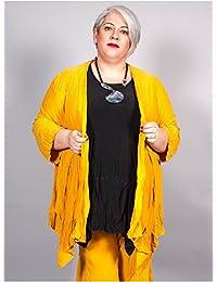 Edmond Boublil - Vêtement Femme Grande Taille Gilet Crinkle Ocre