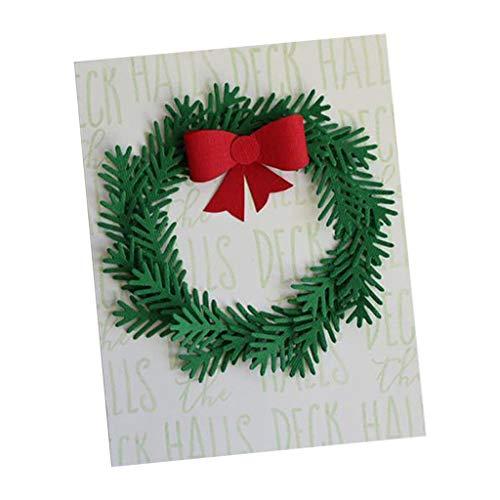 eihnachtsbaum Kranz Stanzformen Schablone Scrapbook DIY Papier Handwerk Geschenke Scrapbooking Küche Haushalt Wohnen Basteln Malen Nähen ()
