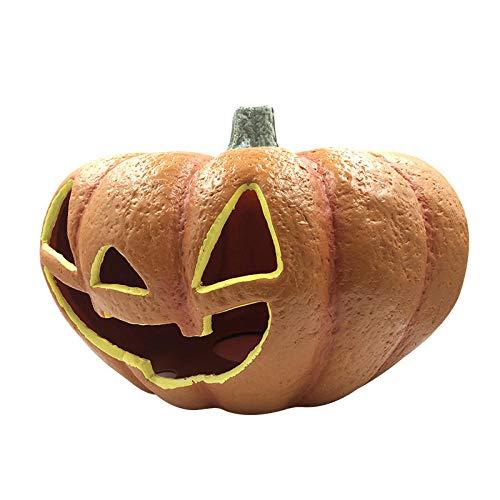 Winpavo Halloween-Deko Halloween Party Requisiten Novedad Iluminación Decoración De Halloween Calabazas Led Linternas Luces De Lámpara De Barril De Calabaza Lugar Ambiente Lámparas Decorativas @ _B