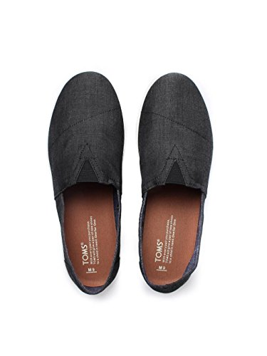 Avalon Slip On - Black Canvas Black Chambray
