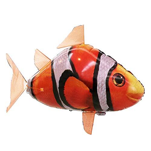 Kostüm Links Hai - OOCO Maske Fernbedienung Hai Spielzeug Luft Schwimmen Infrarot Fisch RC Flug Luftballons Clown Fisch Kinder Spielzeug Geschenke Party Dekoration Spielzeug,B