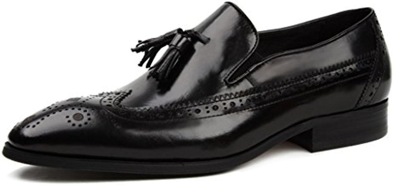Zapatos Clásicos de Piel para Hombre Zapatos de Cuero para Hombres Zapatos Ocasionales Respirables de Estilo Británico...