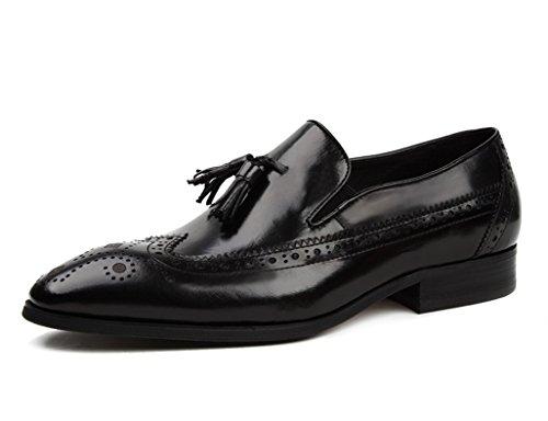 Scarpe Uomo in Pelle Scarpe da uomo in pelle stile inglese Scarpe casual traspiranti Scarpe da lavoro retrò ( Colore : Nero , dimensioni : EU42/UK7.5 ) Nero