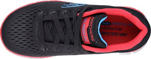Skechers Equalizer 2.0 Post Season, Sneakers Basses Garçon Noir Rouge
