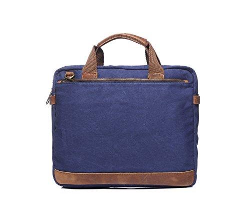 Genda 2Archer Valigetta da Laptop Leggera Sacchetto di Spalla di Viaggio Borsa del Messaggero (36cm*6cm*31cm) (Marrone) Blu Scuro