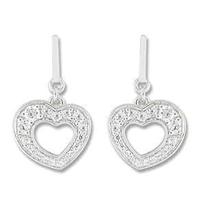 Boucles d'Oreilles Pendantes Femme - 10105188 - Argent 925/1000 2.53 gr - Oxydes de zirconium