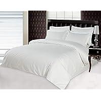 YUNLONG California King Size, Cotton,Stripe Pattern, White - Bedding Sets