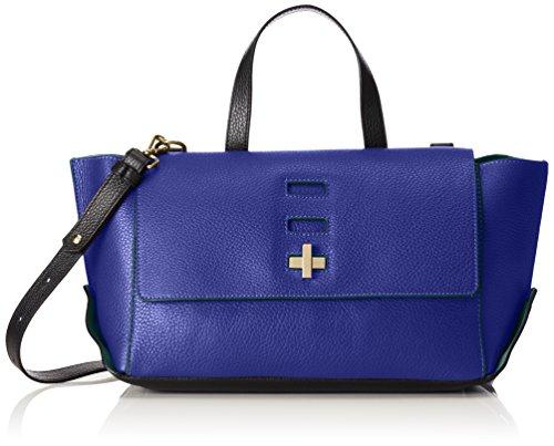 Trussardi Jeans by Trussardi, Sac à main pour femme bleu Blu China/Verde 29 cm