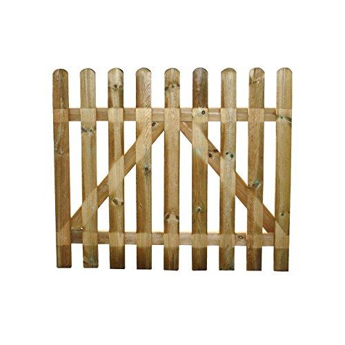 Cancello in legno Europeo impregnato in autoclave recinzione giardino resistente 100x100 cm EV