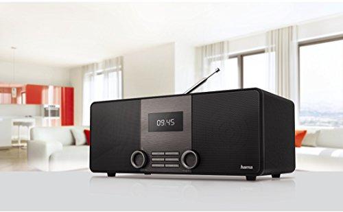 Hama Internetradio Digitalradio DIR3010 (WLAN / LAN / DAB+ / DAB/ FM, 2,6 Zoll Display, mit Fernbedienung, USB-Anschluss mit Lade- und Wiedergabefunktion, zwei Weckzeiten und Wifi Streaming, gratis Radio App) schwarz