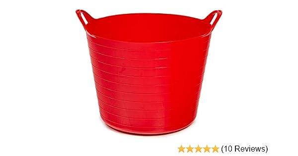 4x Gartenkorb Tragekorb Wäschekorb Kunststoff Korb Aufbewahrung 27 Liter