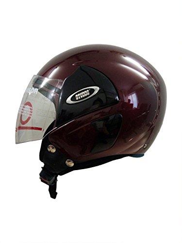 Studds Cub 07 Open Face Helmet (Wine Red, L)
