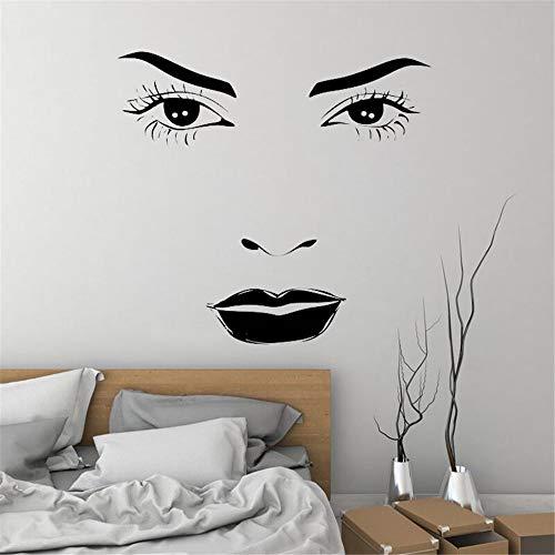 Wandaufkleber Schlafzimmer Exquisite mädchen aufkleber bilden hübsches gesicht sexy auge lippe schönheit friseursalon boudoir für mode frauen für wohnzimmer -