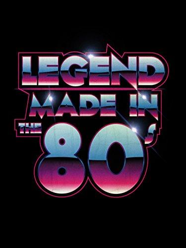 clothinx Damen T-Shirt Legend Made in the 80s Schwarz