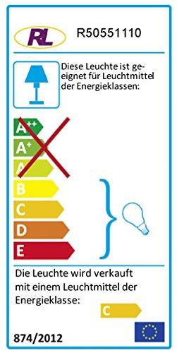 Reality Leuchten Lavalampe , EEK C, kindersicher, chromfarben, Klar Wasser, rot Wachs, inklusiv 1xGY6.35 R50551110