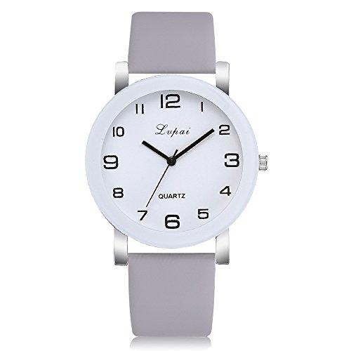 Armbanduhr Damen Ronamick Lvpai Damen Casual Quarz Lederband Uhr Analoge Armbanduhr Armband Armbanduhr Uhr Uhren(I)