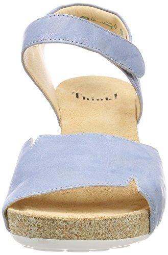 Think Traudi_282572, Sandali con Cinturino Alla Caviglia Donna Blu (Cristal/kombi 77)