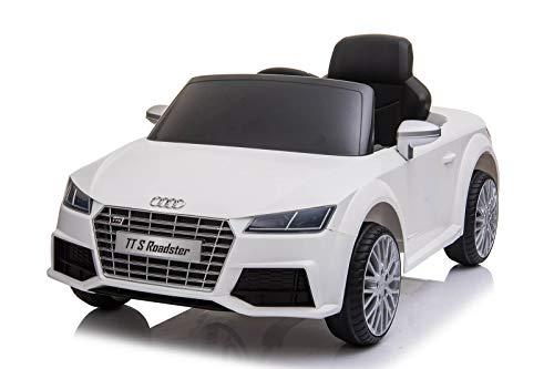 Toyas Audi TTS S-Line Cabrio Kinder Auto Kinder Elektroauto Kinderfahrzeug USB MP3/AUX Weiss