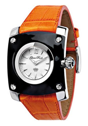 Glam Rock GR50006 - Reloj cronógrafo unisex de cuarzo con correa de piel naranja - sumergible a 50 metros