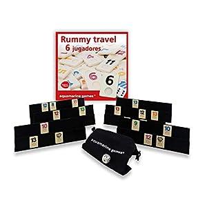 Aquamarine Games – Travel Rummy, Juego de Mesa para 6 Jugadores (DO004)