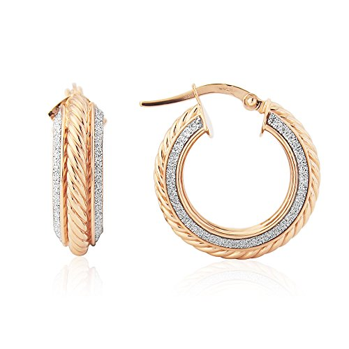 9ct Rose Gold Glitter Grecian Earring (Grecian Ohrringe)