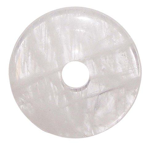 Bergkristall Donut Anhänger rund ca. 35 mm Durchmesser schöne klare Qualität mit Einschlüssen.(3646)