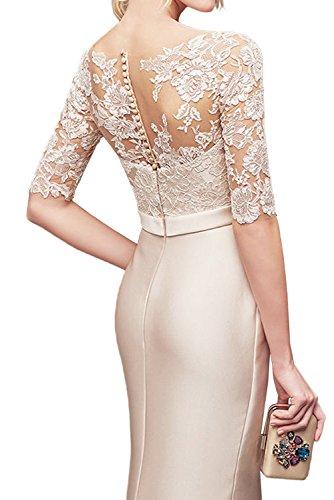 TOSKANA BRAUT Elegant Neu Damen Abendkleider Etui Satin mit Schleife Ruecken  mit Knopf gedeckt Ballkleider Celebritykleider 188273