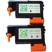 Caidi 2x Cabeza de impresión Hp 940 para Compatible para HP Officejet Pro 8000 Inalámbrico, 8000AIO, 8000W, 8500, A809, A909a, A909g, A909n, 8500A Impresora 8500AIO 8500W, Todo en Uno Más All-in-One