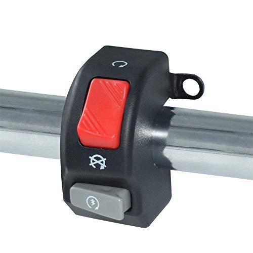 TD Switches TONGDAUR 12V Motorrad Schalter Burtton 7 / 8quot 22mm Lenkerhalterung Scheinwerfer Nebelhorn ohne Akzent EIN AUS Start Kill Schalter (Farbe : Schwarz) -