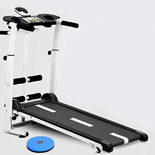 YB Mechanisches Laufband nach Hause faltende stumme Laufmaschine Verlängerung Fitness Gewichtsverlust Ausrüstung Verdrehen Sit-ups Übung,Black