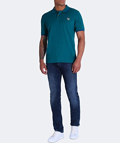 PS by Paul Smith Herren Slim-fit Pique Polo-shirt Türkis Türkis