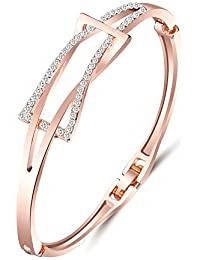 Shining Diva Fashion Jewellery Rose Gold Stylish Bangle Bracelet For Girls And Women