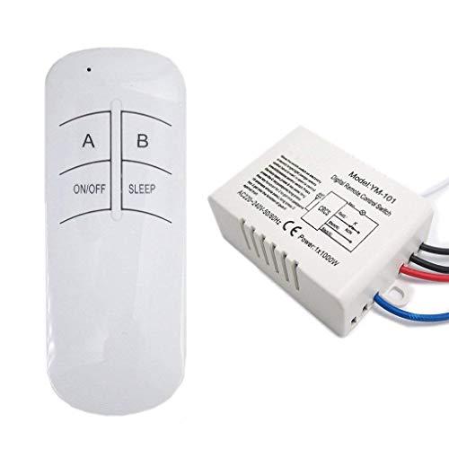 Mengonee 220V multifonction Commutateur de télécommande sans fil lampe numérique Interrupteur de commande à distanc