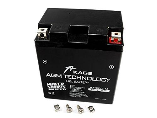 Batterie GEL KAGE YB10L-A2 YB10L-B2, DIN 51112 51113, GM10Z-3A GM10Z-3B, 6D3P