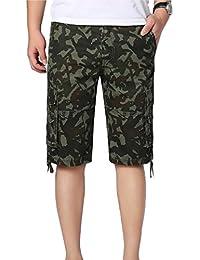 YiJee Cargo Shorts Multi-Poches Boardshorts Camouflage Bermuda Homme