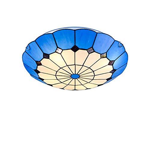 CCLLA Creative Flush Mount Deckenleuchte, einfache Moderne handgemachte Glasmalerei Flush Schlafzimmer Deckenleuchte Wohnzimmer Kinderzimmer Deckenleuchte (Größe: 30cm) - Moderne Glasmalerei