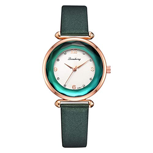 Jinzuke Dial Frauen-runde Quarz-Uhr-Rose Gold Frame Strass beiläufige Armbanduhr Feiertags-Geburtstag-Geschenke