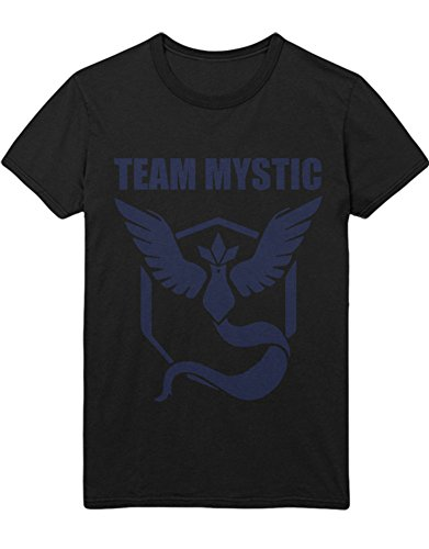 T-Shirt Poke Go Team Mystic Hype Kanto X Y Blue Red Yellow Plus Hype Nerd Game C123136 Schwarz M (Pokemon X Und Y Ash Ketchum Kostüm)