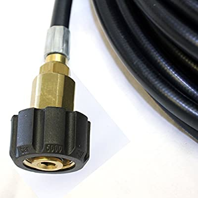 Kiam Power Products 7m, 10m, 15m, 20m & 30m Flexible Drain Hose with Retrojet Nozzle to fit Karcher K-series, Nilfisk Alto, Lavor, Bosch Standard, Kew Industrial, Karcher HD Series, Kranzle