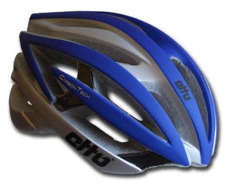 Etto Fahrradhelm Spluga Carbon, blue / silver matt, 55-59, 336507