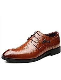 Zapatos De Los Hombres De Negocios Derby Punta Estrecha Cordón-UPS Zapatos Uniformes Zapatos De