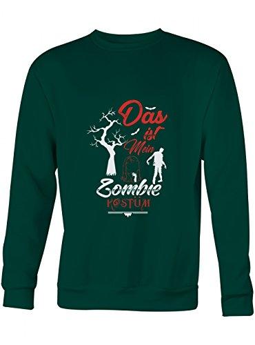 idung Zombie Premium Sweatshirt | Kostüm | Karneval | Fasching | Unisex | Sweatshirts, Farbe:Dunkelgrün;Größe:M (Gruselig Karneval Kostüm Ideen)