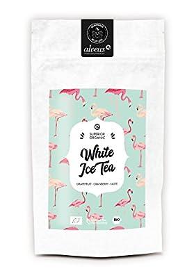 alveus White Ice Tea (Saveur pamplemousse-myrtille, Ingrédients: Thé blanc Pai Mu Tan*, thé vert China Chun Mee*, citronnelle*, écorces de citron*, écorces d'orange*, racine de réglisse*, arôme naturel, canneberge*. *Issu de l'agriculture biologique)