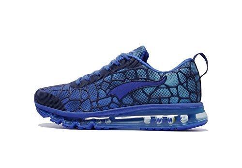 Onemix Herren Air Laufschuhe Sportschuhe mit Luftpolster Turnschuhe Leichte Schuhe Königsblau Größe 42 EU